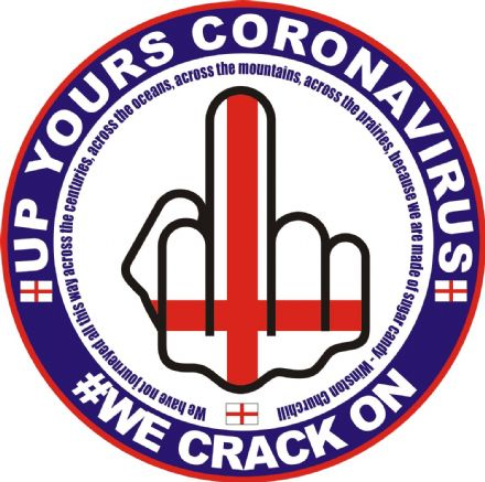 "Middle Finger ""Up Yours Coronavirus"" Window Sticker"